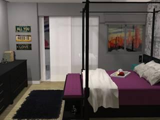 eclectic Bedroom by Studio 15 Arquitetura
