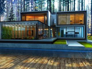 House 96 Дома в стиле минимализм от ALEXANDER ZHIDKOV ARCHITECT Минимализм