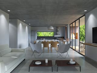 Casa B Livings modernos: Ideas, imágenes y decoración de D+D Studio Moderno