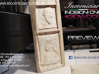 INCORNICIARE ArtworkSculptures Solid Wood Multicolored