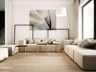 现代客厅設計點子、靈感 & 圖片 根據 KAEL Architekci 現代風