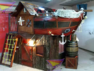 Impactante litera barco: Habitaciones infantiles de estilo  por camas y literas infantiles kids world