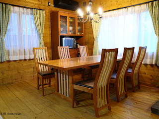 """ダイニングセット""""ウルフィ"""": 家具工房 BritCraftが手掛けた現代のです。,モダン"""