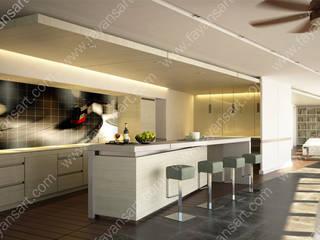 Kişiye Özel Mutfak Fayansları FayansArt Modern Mutfak Seramik