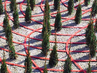 "Regional Garden Show 2015, Landau (GER) - graphically garden ""bizarre"" Jardin minimaliste par Planungsbüro STEFAN LAPORT Minimaliste"