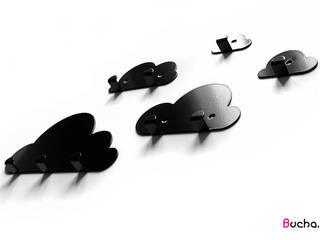 Zestaw Chmurki - ozdobny wieszak do przedpokoju: styl , w kategorii  zaprojektowany przez Bucha