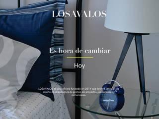 Es hora de cambiar Dormitorios minimalistas de LOSAVALOS - Oficina de Arquitectura Minimalista