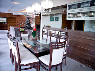 Country style dining room by NATALIA ELLWANGER ARQUITETUTA Country