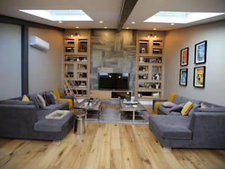 EIY HOUSE Modern media room by Esra Kazmirci Mimarlik Modern