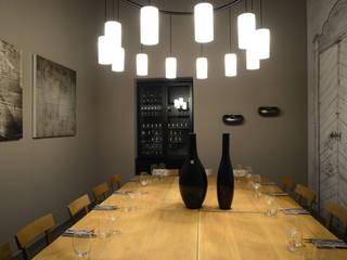 Saletta privata: Negozi & Locali commerciali in stile  di Silvana Barbato, StudioAtelier