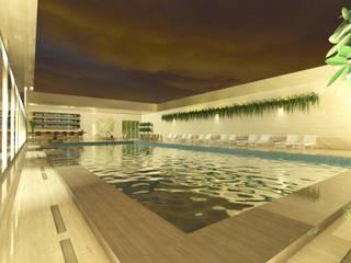 A Piscina do hotel Hotéis modernos por Rangel & Bonicelli Design de Interiores Bioenergético Moderno