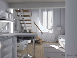 Arch. Giorgia Congiu Comedores de estilo moderno Blanco