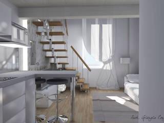Arch. Giorgia Congiu Modern Dining Room White