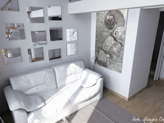 Arch. Giorgia Congiu Salones de estilo moderno Blanco
