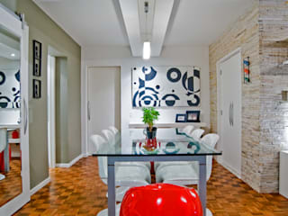 Patrícia Azoni Arquitetura + Arte & Design의  다이닝 룸
