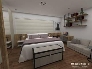 Flat Meliá Ibirapuera I Quartos modernos por Marina Scacchetti Arquitetura e Interiores Moderno