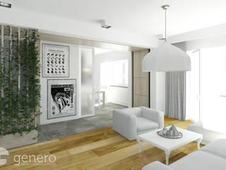 Mieszkanie, Poznań: styl , w kategorii Salon zaprojektowany przez GENERO