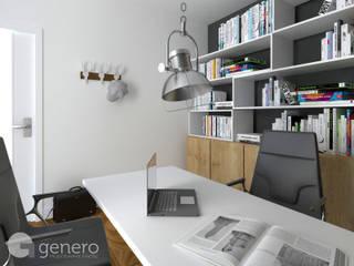 Dom jednorodzinny, Poznań: styl , w kategorii Domowe biuro i gabinet zaprojektowany przez GENERO