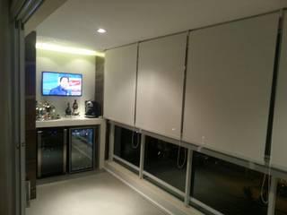 Estúdio Plano Balkon, Beranda & Teras Minimalis