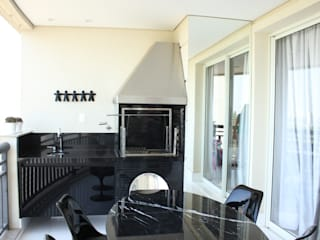 Estúdio Plano Balcon, Veranda & Terrasse modernes