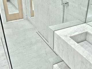 Carrara Marble Shower room:  Bathroom by Ogle luxury Kitchens & Bathrooms