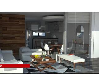 Casa Aqua Comedores modernos de Tres-r Moderno