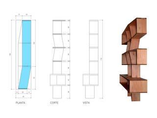 Biblioteca Multilaminado:  de estilo  por MueblesElemental
