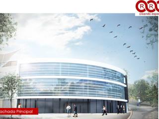 Oficinas Piscis Edificios de oficinas de estilo industrial de Tres-r Industrial