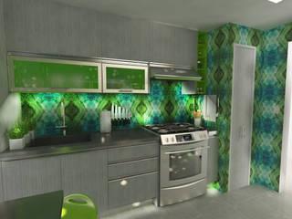 OPFA Diseños y Arquitectura 現代廚房設計點子、靈感&圖片 MDF Multicolored