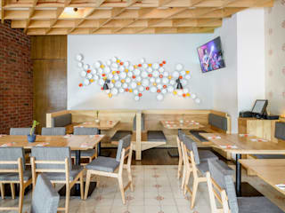 NIVEL TRES ARQUITECTURA Eclectic style bars & clubs Ceramic Wood effect