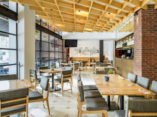 NIVEL TRES ARQUITECTURA Eclectic style gastronomy Wood Wood effect