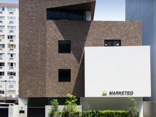 一級建築士事務所アールタイプ Complesso d'uffici moderni Laterizio Marrone