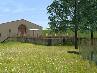 Gîte de prestige au pied d'un château d'un domaine vini-viticole Hôtels ruraux par Hanuman Architecture Rural