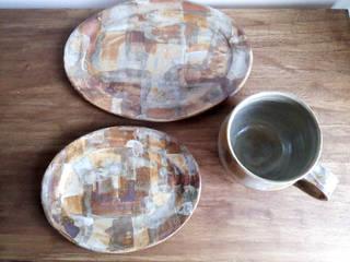 シリーズ『石畳』: 陶器食器店 a new sprout / junko sakamotoが手掛けたです。