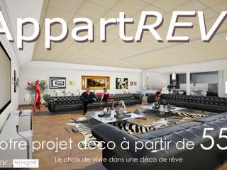 Atelier d'artiste Salon moderne par Appartrev.... Moderne