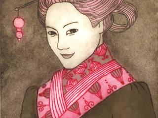Portrait de Li-Jun, variation 1:  de style  par Nathalie Tousnakhoff