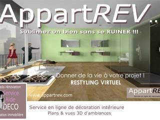 Sublimez un bien sans se RUINER !!!! Salon moderne par Appartrev.... Moderne