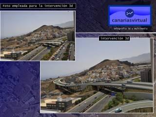 Obras Públicas: Espacios comerciales de estilo  de Canarias  3D