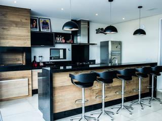 Área Gourmet: Terraços  por Celina Molinari Arquitetura e Interiores,Moderno