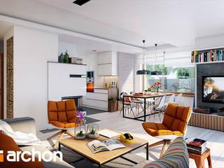 Projekt domu ARCHON+ Dom w filodendronach 3 od ARCHON+ PROJEKTY DOMÓW