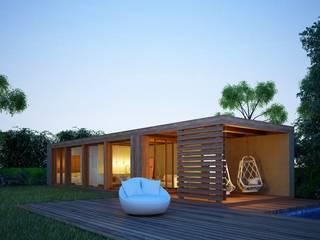 Casas prefabricadas de estilo  por Maqet