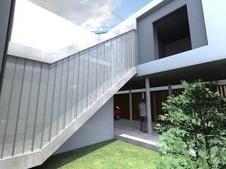 Pasillos y vestíbulos de estilo  de VHA Arquitectura