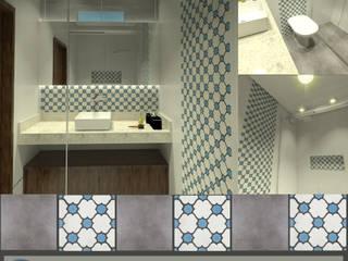 Banheiro do casal: Banheiro  por Imagine Arquitetura