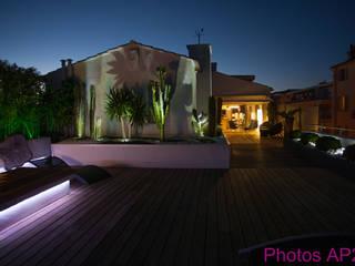 Eclairage terrasse: Maisons de style  par Architecture Nature & Lumière
