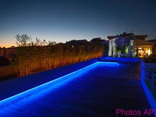 Eclairage terrasse: Terrasse de style  par Architecture Nature & Lumière
