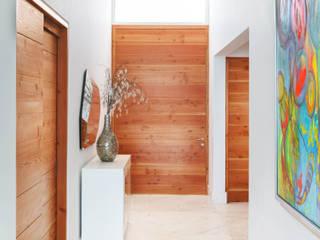 Pasillos y vestíbulos de estilo  de Imativa Arquitectos, Moderno Madera Acabado en madera