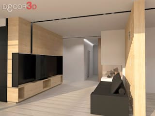 Modern Media Room by Nuria Decor3D Modern