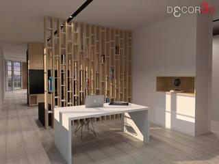 ESTUDIO Estudios y despachos de estilo moderno de Nuria Decor3D Moderno