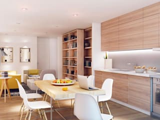 """""""The apartment"""", El Raval -60 m²-, Barcelona. Cocinas de estilo moderno de GokoStudio Moderno"""