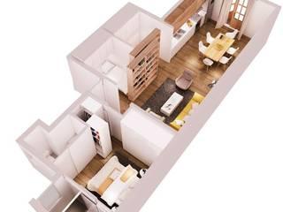 """The apartment"", El Raval -60 m²-, Barcelona. de GokoStudio Moderno"